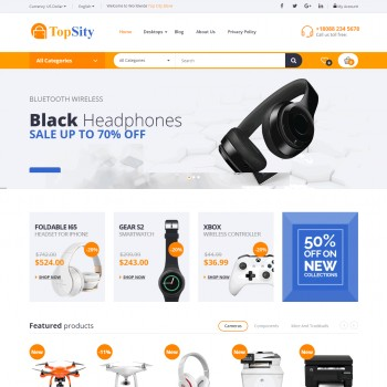 E-commerce, Computer industry OpenCart template