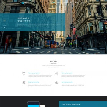 Art Industrial template, Architecture HTML template
