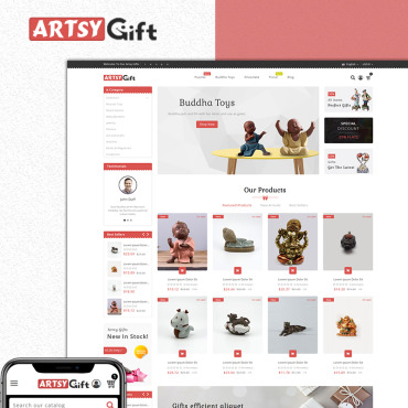 St. valentine's day, e-commerce PrestaShop template