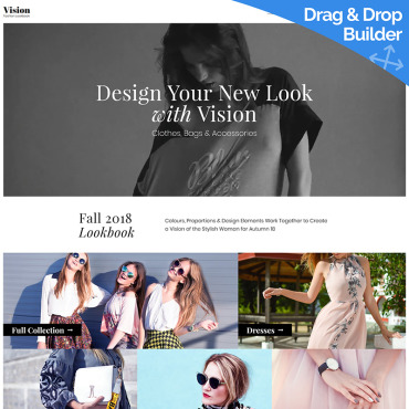 Fashion store Moto CMS 3 template