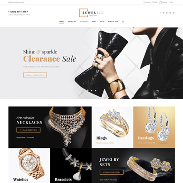 Online jewelry store, e-commerce Shopify template