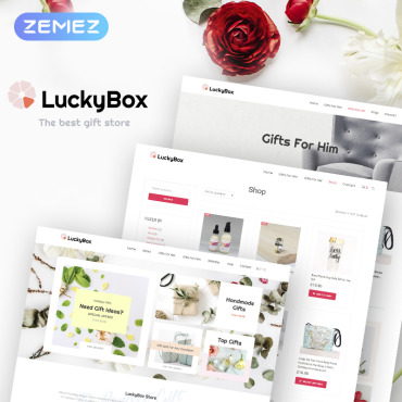 St. valentine's day, e-commerce WooCommerce template