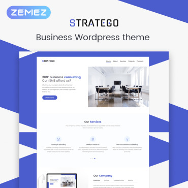Transportation company WordPress template