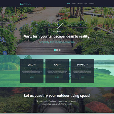 Landscape and Nature Drupal template