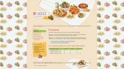 Catering, Food PSD template