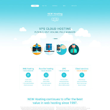 Hosting company Drupal template