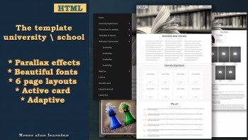 Adaptive html template for the site of the university or other educati