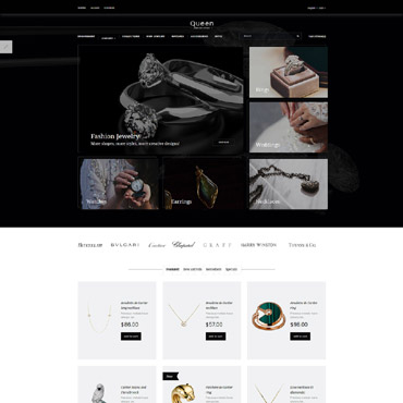 Online jewelry store, e-commerce OpenCart template