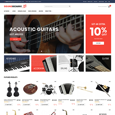 Musical, e-commerce Magento template