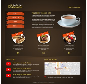 Catering HTML template