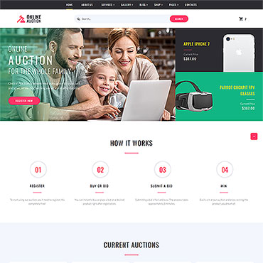 Auction HTML template