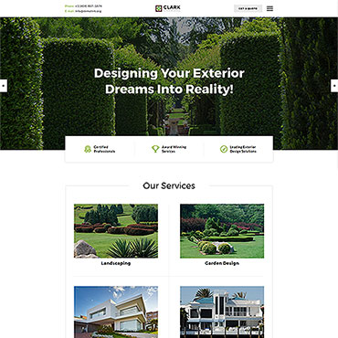 Landscape and Nature HTML template