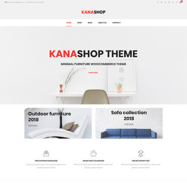 Photography website, e-commerce WooCommerce template
