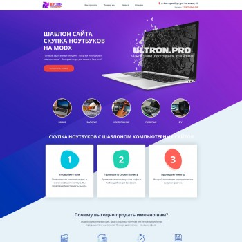 Business, The area of Internet MODx template
