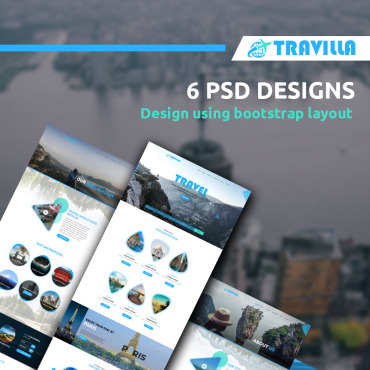 Travelling PSD template
