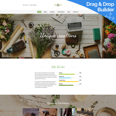 Hobby-related websites Moto CMS 3 template