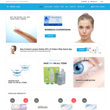 Medical, e-commerce Shopify template