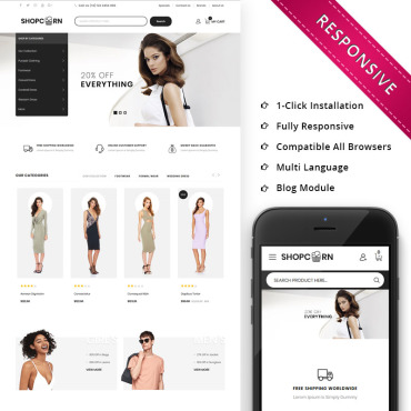 Beauty, e-commerce OpenCart template