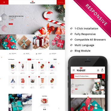 St. valentine's day, e-commerce OpenCart template