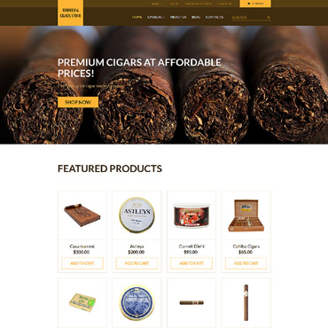 Tobacco industry, e-commerce VirtueMart template