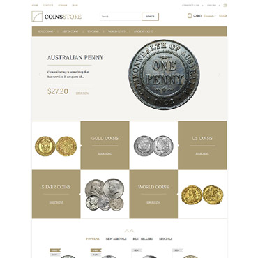 Antique dealers, e-commerce PrestaShop template