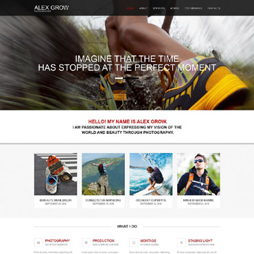 Photography website Adobe Muse template