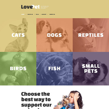 Animals Drupal template