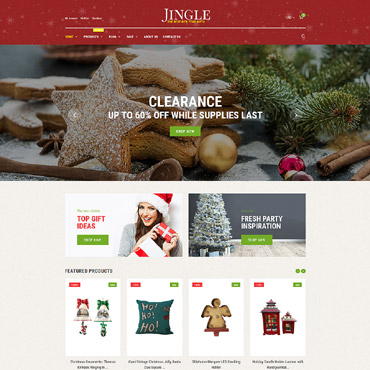 Christmas, e-commerce Shopify template