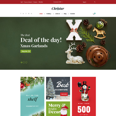 Christmas, e-commerce VirtueMart template