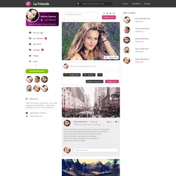 Dating website, The area of Internet PSD template