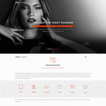 Dating website PSD template