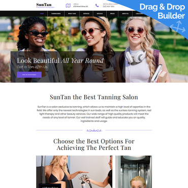 Beauty Moto CMS 3 template