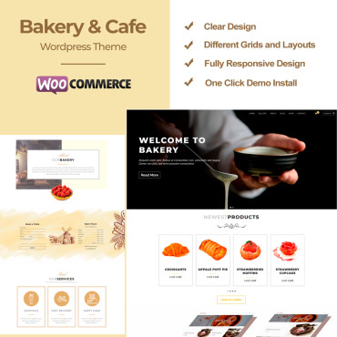 Catering, e-commerce WooCommerce template