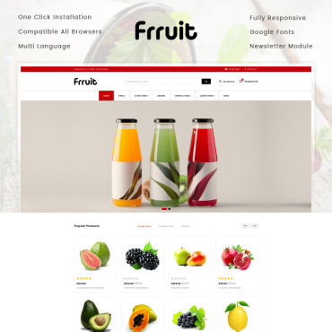 Multipurpose websites, e-commerce OpenCart template