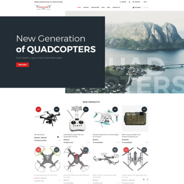 Digital equipment, e-commerce Shopify template