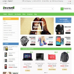Equipment, e-commerce OpenCart template