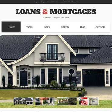 Real estate company, appraiser or mortgage institution WordPress template