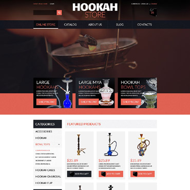 Tobacco industry, Online shop VirtueMart template
