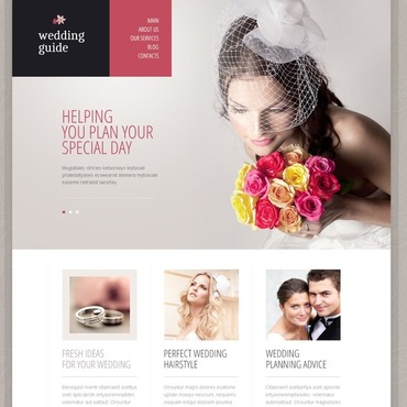 Wedding website Drupal template