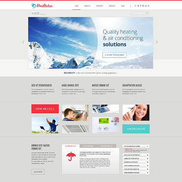 Service company WordPress template