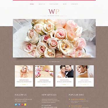 Wedding website WordPress template