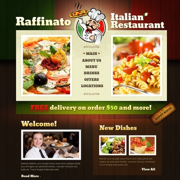 Catering Landing Page HTML Template At A Price Of 19
