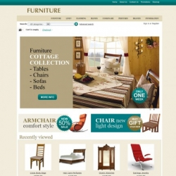 Interior design CS-Cart template