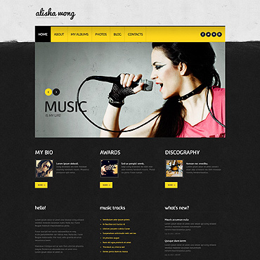 Blog WordPress template
