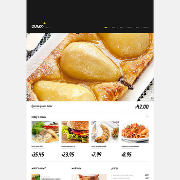 Catering WordPress template