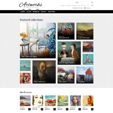 Photography website, Online shop Magento template