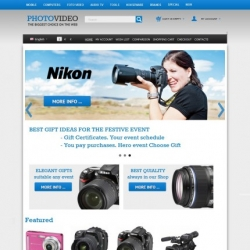 Photography website CS-Cart template