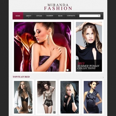 Fashion store Drupal template