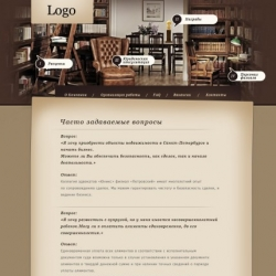 Legal, Business card website PSD template