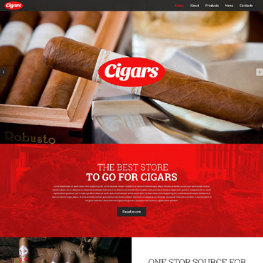 Tobacco industry WordPress template